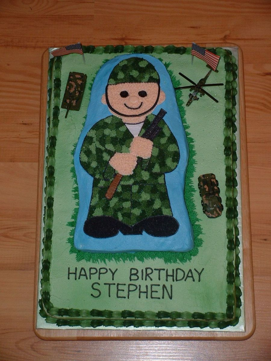 Men Birthday Cakes Army Man Birthday Cake Cakecentral