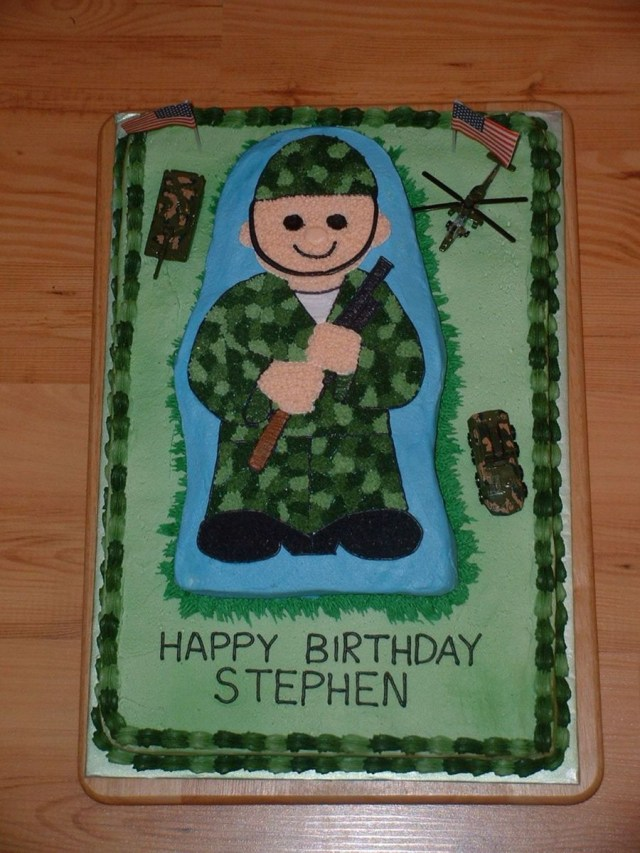 Men Birthday Cakes Army Man Birthday Cake Cakecentral