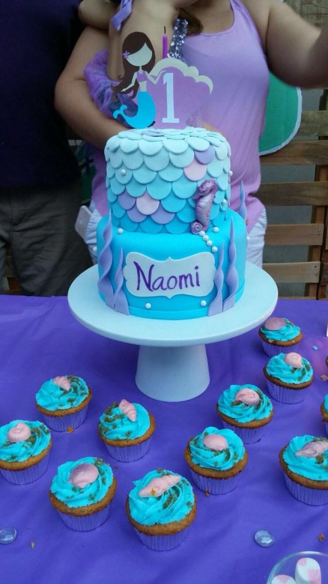 Mermaid Birthday Cakes Mermaid First Birthday Cake Made Keik Andrea Azariah 6th
