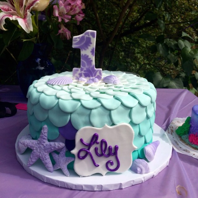 Mermaid Birthday Cakes My Daughters First Birthday Cake For Her Mermaid Themed Party
