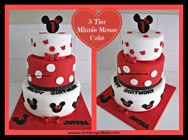 Mickey Mouse Birthday Cake 1st Birthday Cake Minnie Mouse