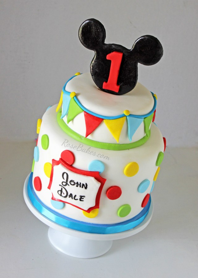 Mickey Mouse Birthday Cake Ideas Mickey Mouse Cake Ideas Rose Bakes