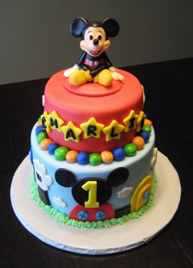 Mickey Mouse Birthday Cake Mickey Mouse Cake Decoration Ideas Little Birthday Cakes
