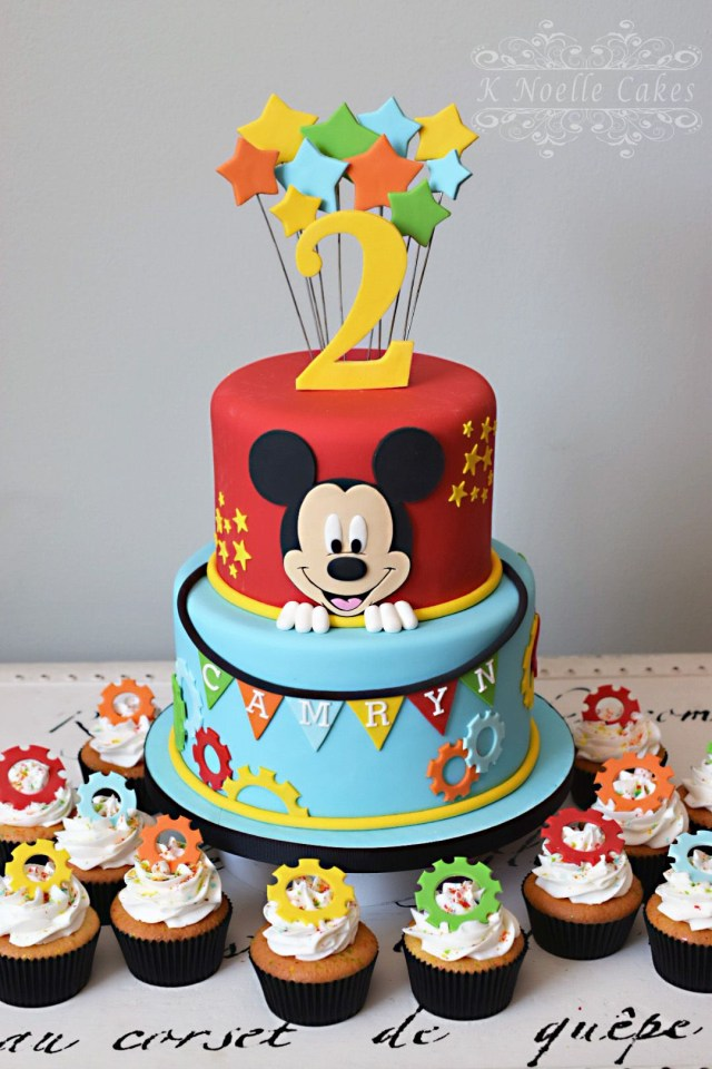 Mickey Mouse Birthday Cake Mickey Mouse Clubhouse Theme Cake K Noelle Cakes Cakes K