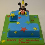 Mickey Mouse Birthday Cake Number 1 Mickey Mouse Birthday Cake Childrens Birthday Cakes