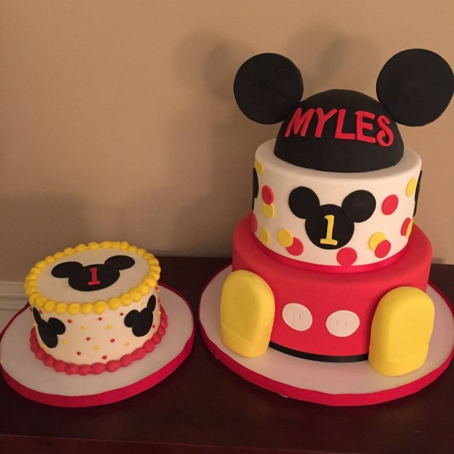 Mickey Mouse Birthday Cakes Mickey Mouse Club House First Birthday Cakes Calynne Kaden 1st