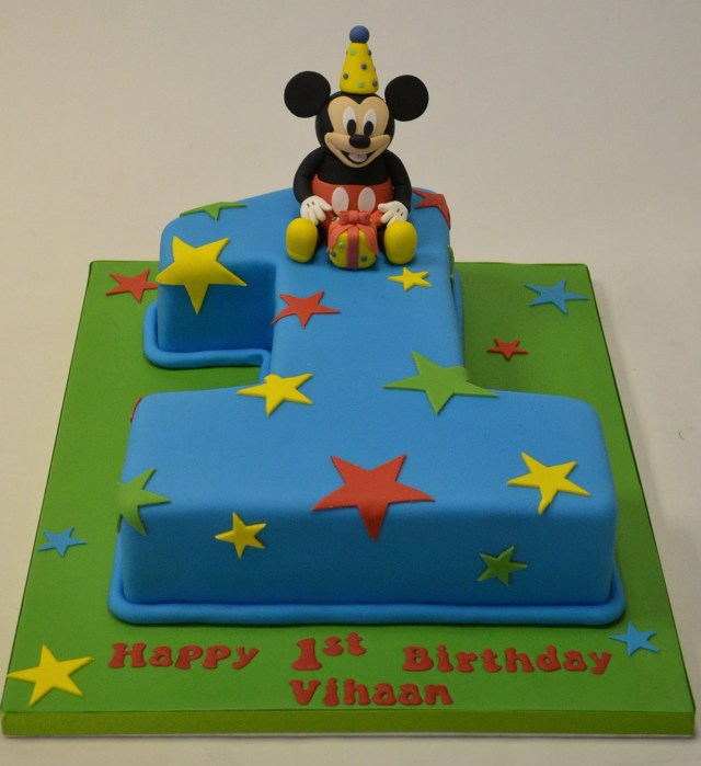 Mickey Mouse Birthday Cakes Number 1 Mickey Mouse Birthday Cake Childrens Birthday Cakes