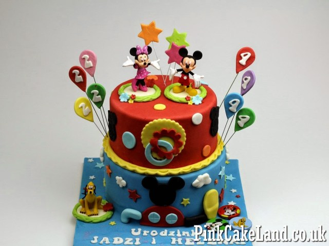 Mickey Mouse Clubhouse Birthday Cakes Mickey Minnie Mouse Cakes