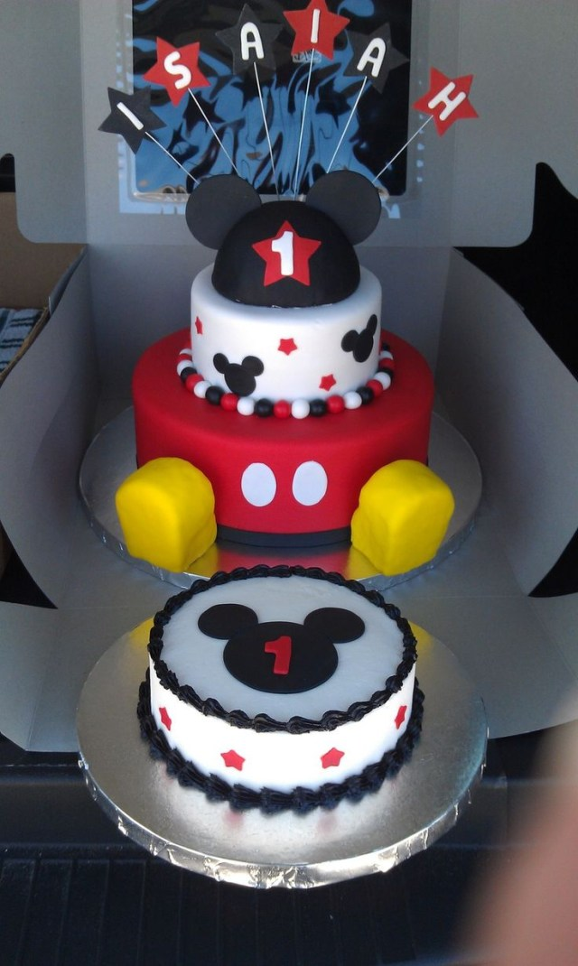Mickey Mouse First Birthday Cake 11 Mickey Mouse First Birthday Cakes For Boys Photo Mickey Mouse