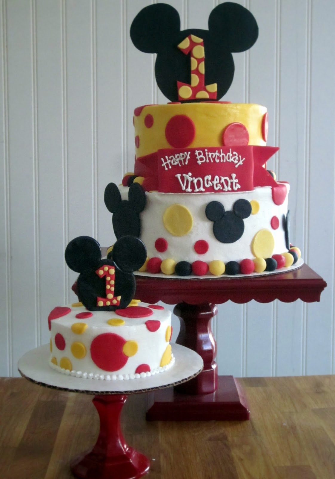 Mickey Mouse First Birthday Cake Darlin Designs Mickey Mouse First