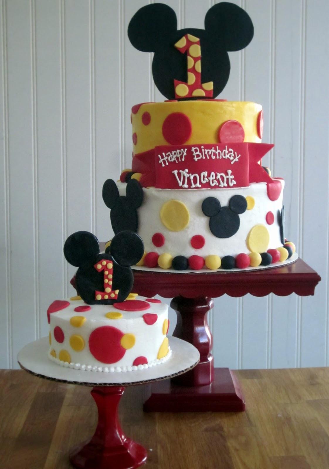 Mickey Mouse First Birthday Cake Darlin Designs Mickey Mouse First Birthday Cake And Smash Cake