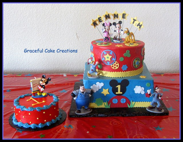 Mickey Mouse First Birthday Cake Disney Mickey Mouse Club House 1st Birthday Cake Grace Tari Flickr