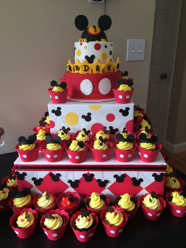 Mickey Mouse First Birthday Cake Mickey Mouse First Birthday Cake Cake Hob Pinterest Mickey