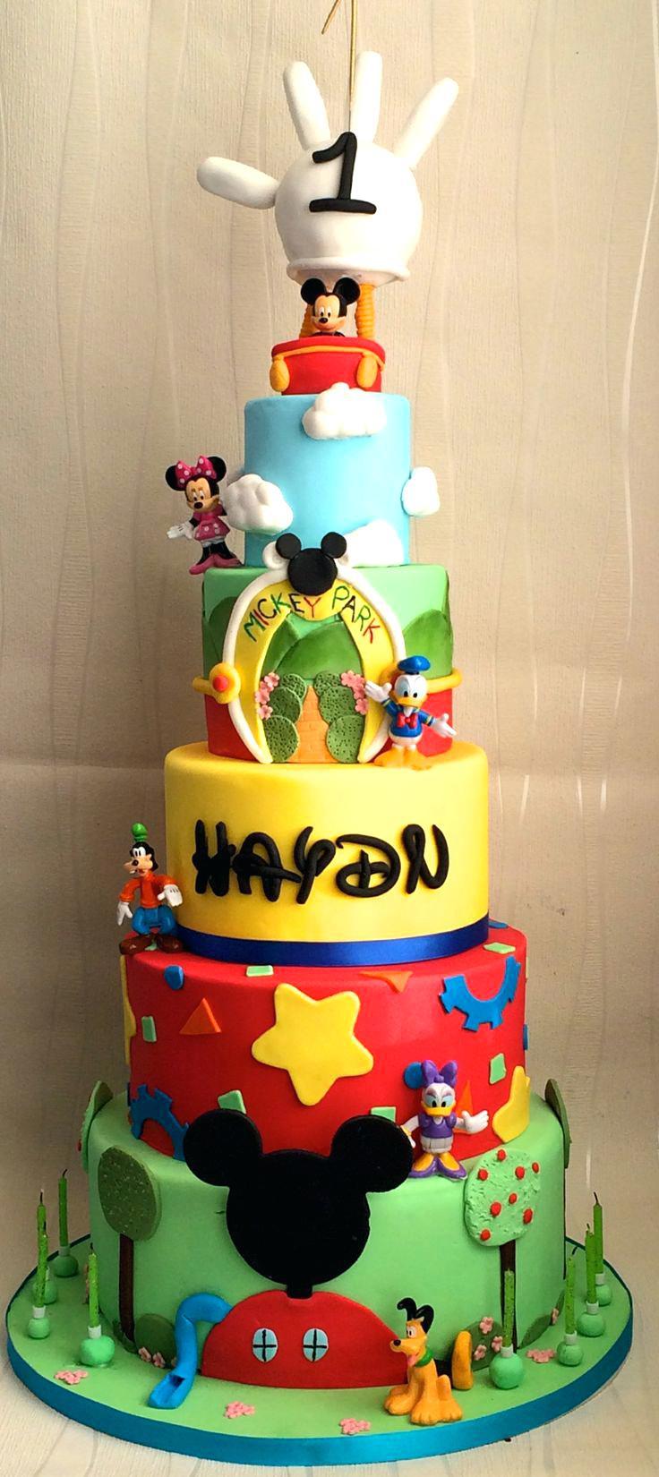 Mickey Mouse First Birthday Cake Ideas S Wondercraftnetworks