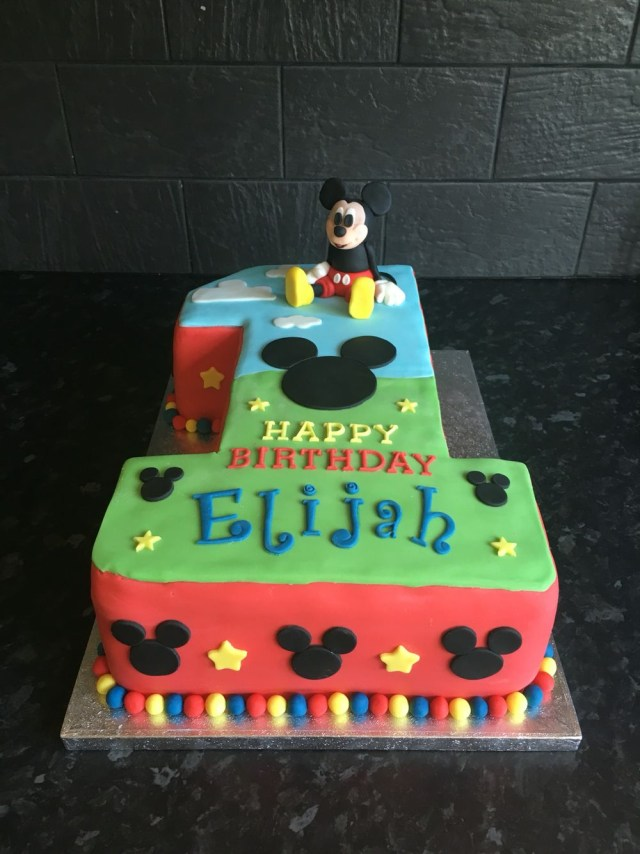 Mickey Mouse First Birthday Cake Mickey Mouse Number 1 Birthday Cake First Birthday Mickey Birthday