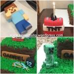 Minecraft Birthday Cake Toppers Fondant Minecraft Cake Toppers En Mi Casita