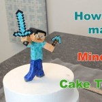 Minecraft Birthday Cake Toppers How To Make A Minecraft Steve Cake Topper Youtube