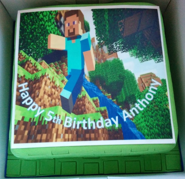 Minecraft Birthday Cake Toppers Minecraft Birthday Cake Topper Wedding Birthday Cakes From