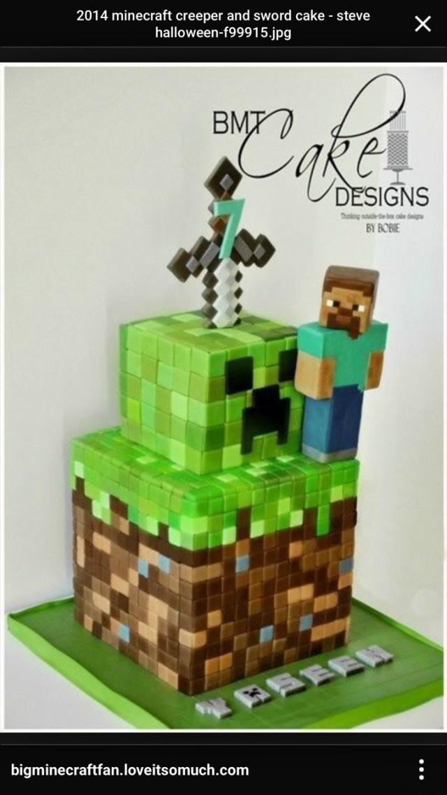 Minecraft Birthday Cake Toppers Minecraft Sword Cake Topper Fiscalreform
