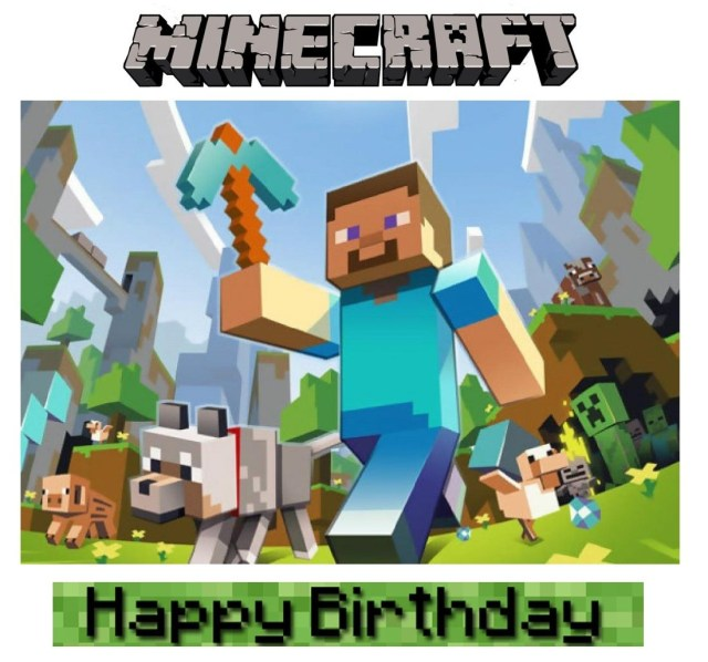 Minecraft Birthday Cake Toppers Minecraft Wiki Cake May Many This Aug Gteau Party Ideas