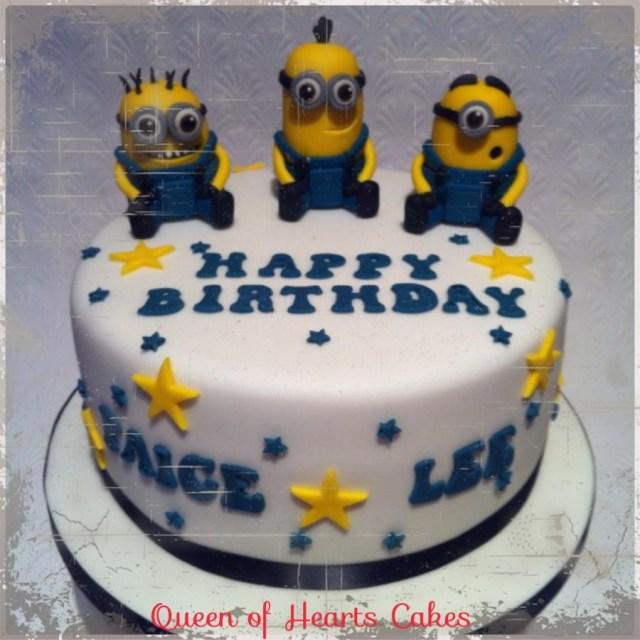 Minions Birthday Cake Minions Birthday Cake Cake Queen Of Hearts Cakes Cakesdecor
