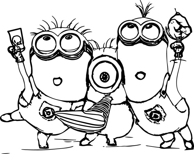 Minions Coloring Pages Despicable Me 2 Minions Coloring Page Wecoloringpage
