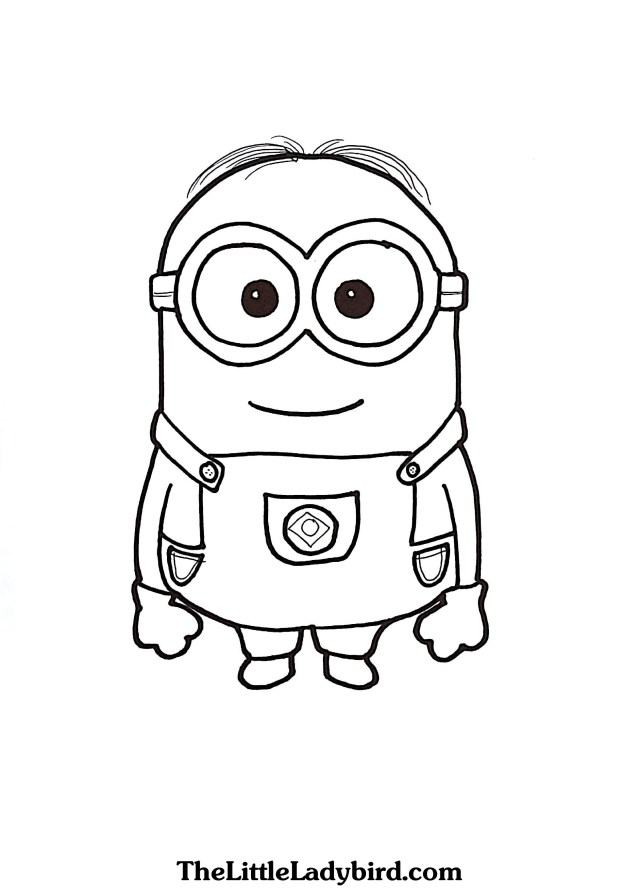 Minions Coloring Pages Free Dave The Minion Coloring Page Thelittleladybird