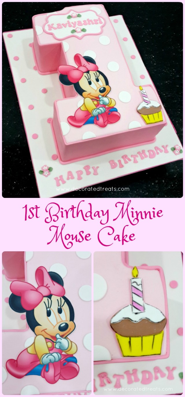 Minnie Mouse 1St Birthday Cake 1st Birthday Minnie Mouse Cake