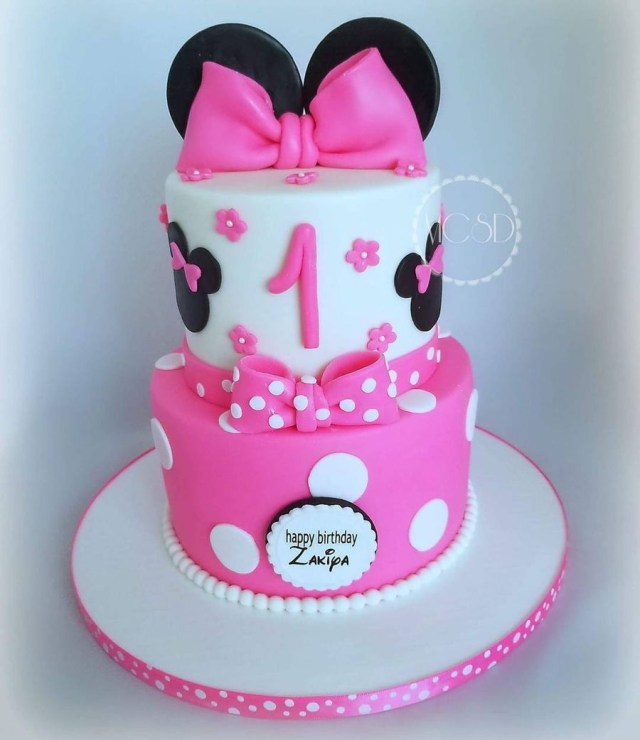 Minnie Mouse 1St Birthday Cake Minnie Mouse 1st Birthday Cake Cakecentral