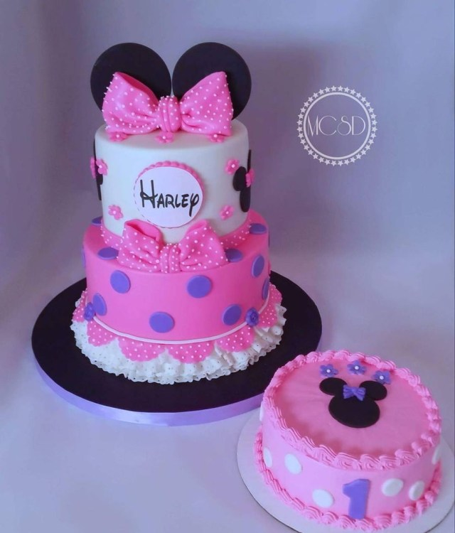 Minnie Mouse 1St Birthday Cake Minnie Mouse 1st Birthday Cake Smash Cake Cakecentral