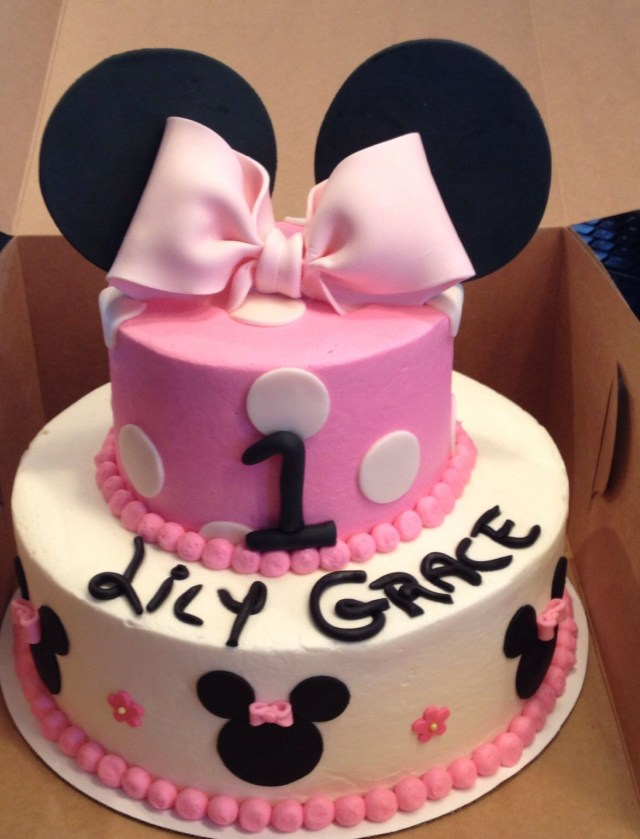 Minnie Mouse 1St Birthday Cake Minnie Mouse First Birthday Cake Cakes Sarahs Sweets