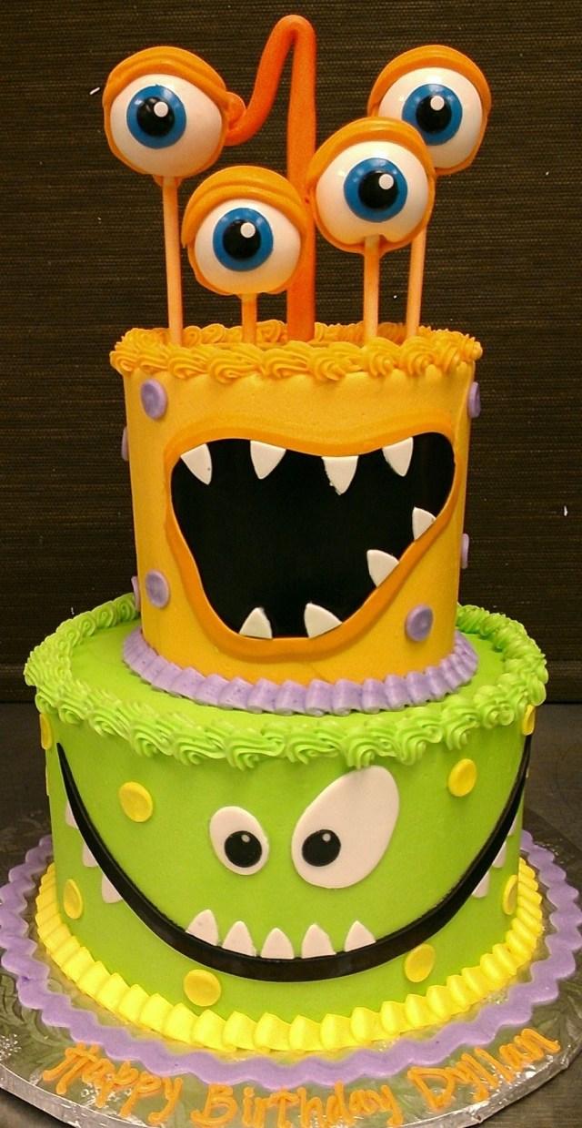 Monster Birthday Cake Monster Birthday Cake Children Birthday Cakes Pinterest Cake