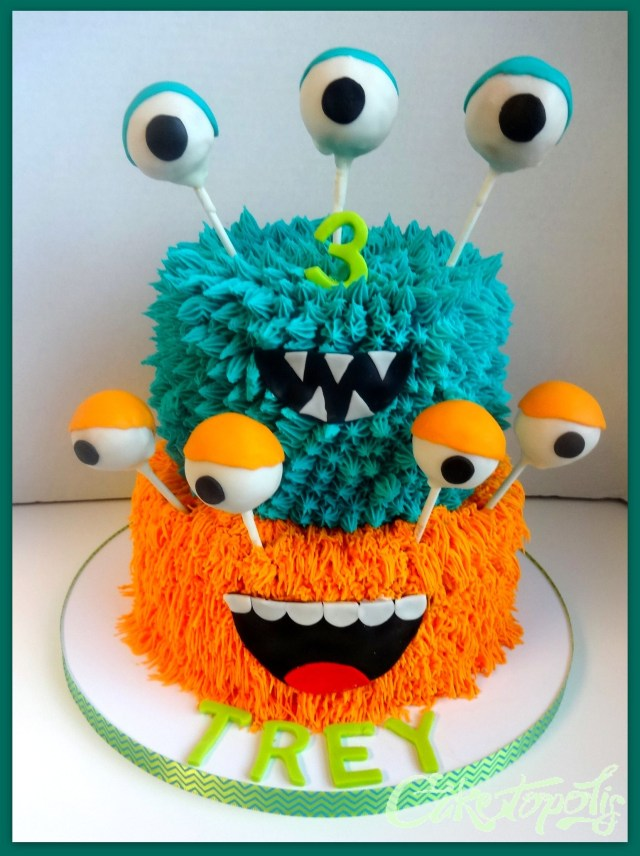 Monster Birthday Cake Monster Birthday Cake Halloween Bake Pinterest Birthday Cake