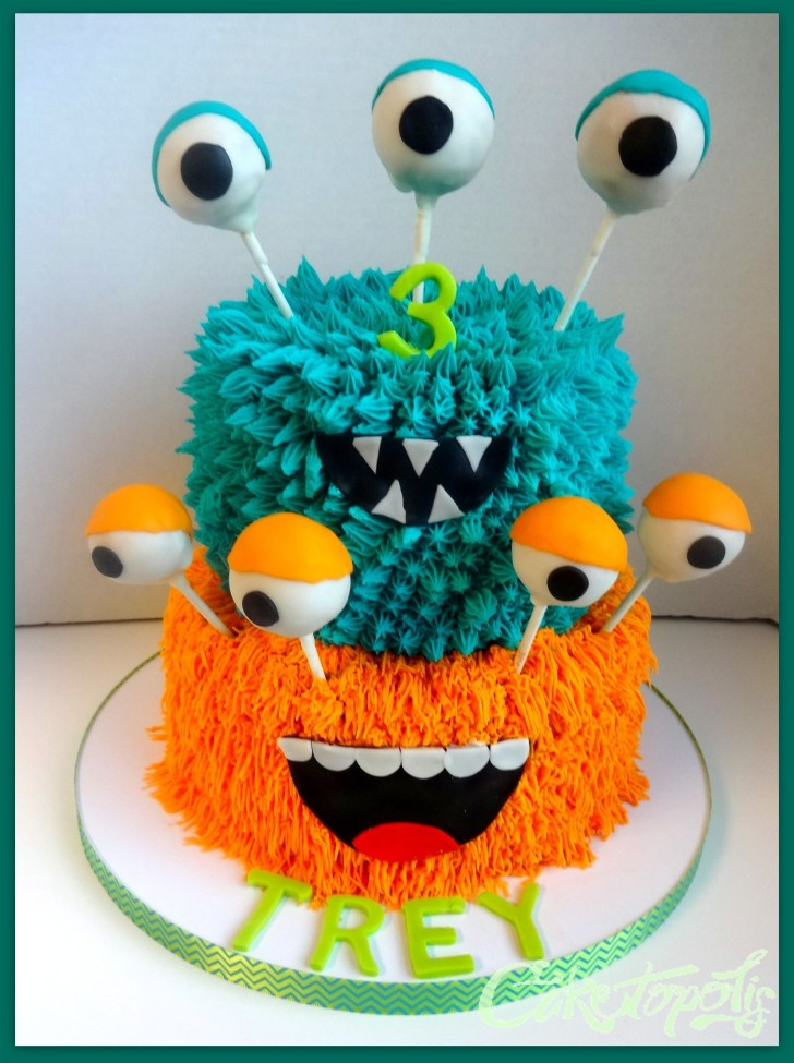 35+ Best Image of Monster Birthday Cake