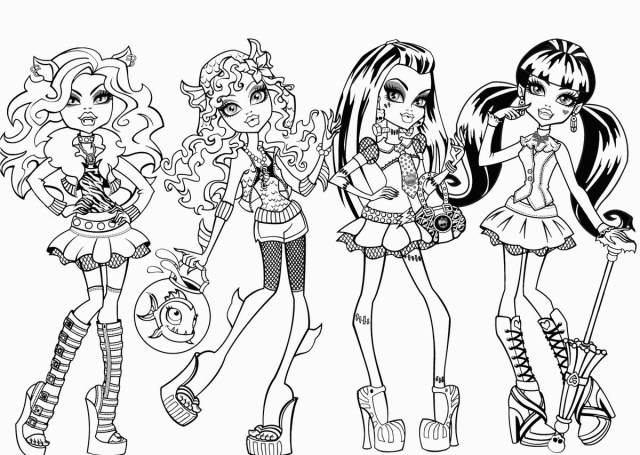 Monster High Coloring Page Free Printable Monster High Coloring Pages For Kids For Color Pages