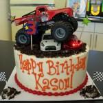 Monster Jam Birthday Cake Monster Truck Cake Decorations Kid Stuff Pinterest Truck Cakes