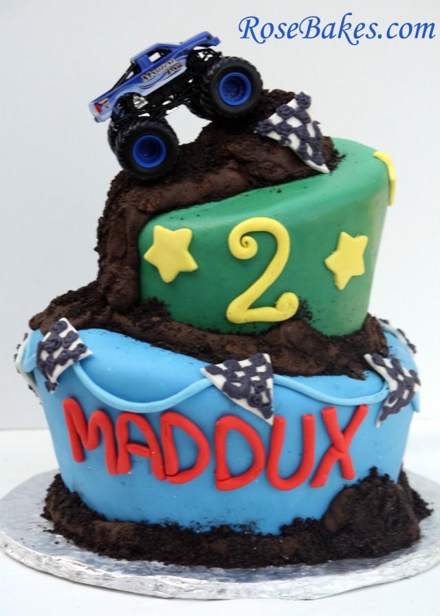 Monster Jam Birthday Cake Monster Truck Cake My First Wonky Cake
