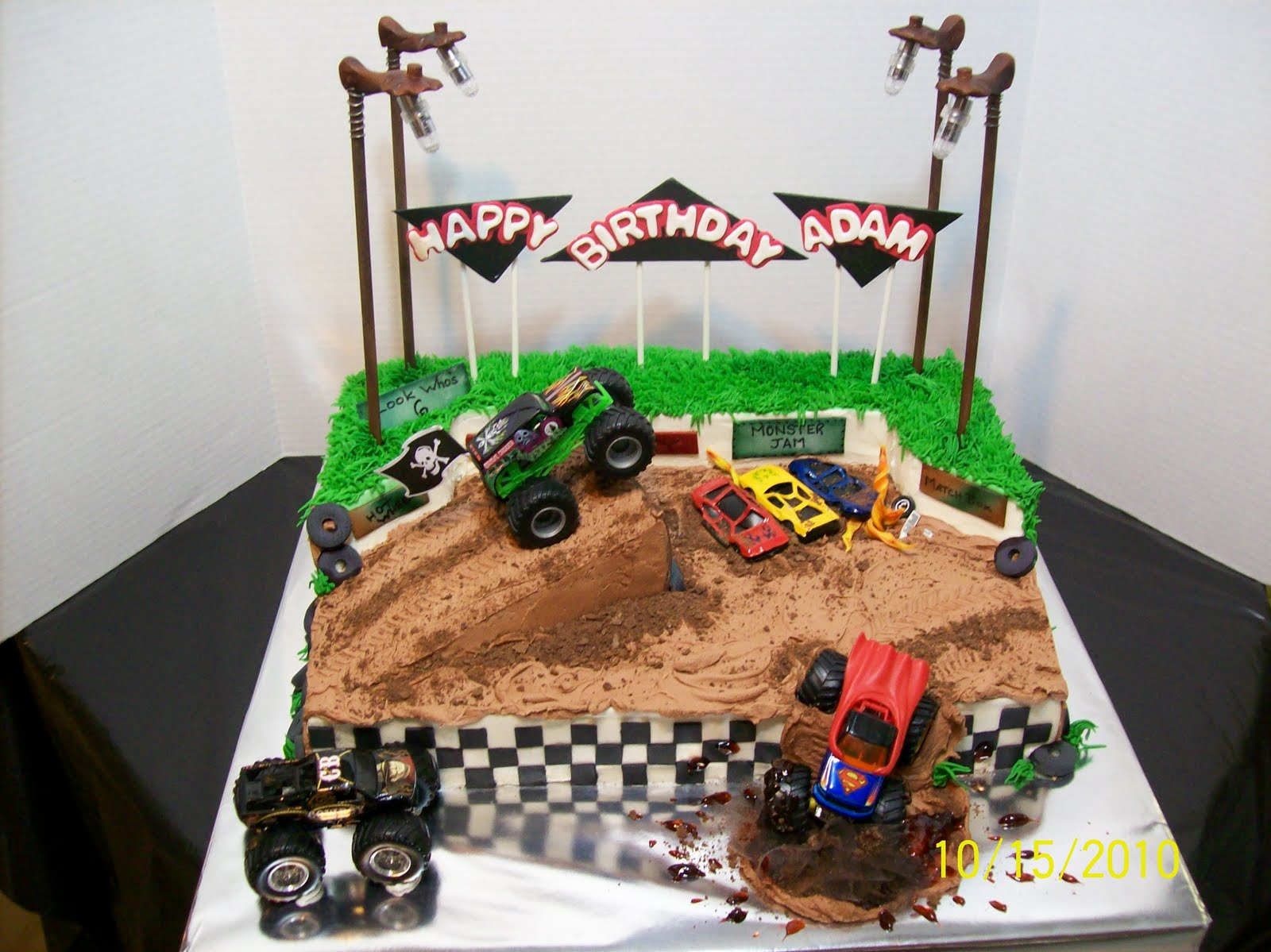 Monster Jam Birthday Cake Monster Truck Cakes Decoration Ideas