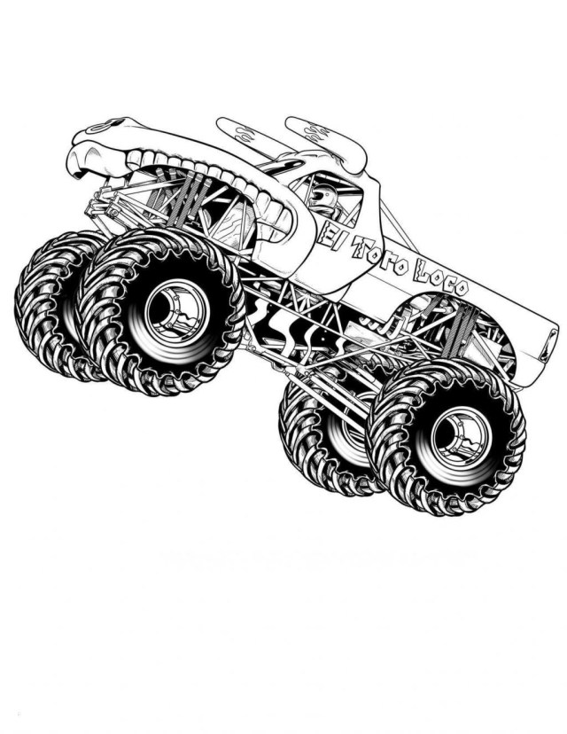 Monster Jam Coloring Pages Coloring Pages Free Truck Coloring Pages Printable Fresh Monster