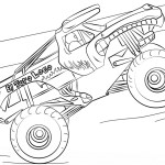 Monster Jam Coloring Pages El Toro Loco Monster Truck Coloring Page Free Printable Coloring Pages