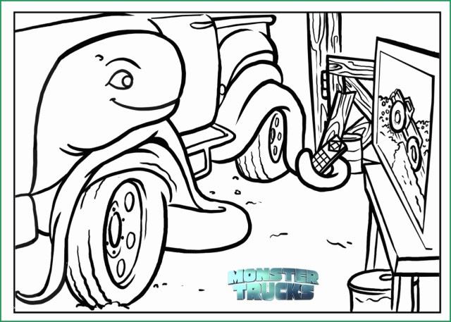 Monster Jam Coloring Pages Free Monster Truck Coloring Pages Awesome Free Monster Trucks