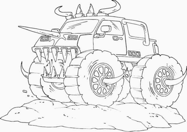 Monster Jam Coloring Pages Monster Jam Coloring Pages For Kids With Coloring Pages Real Monster