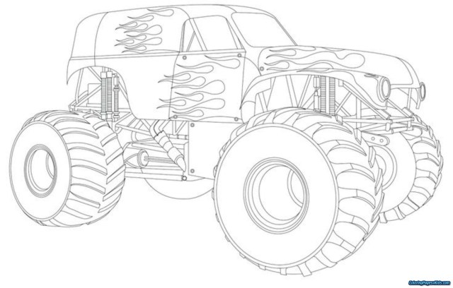 Monster Jam Coloring Pages Monster Truck Coloring Pages 30 Trucks 6 Futurama