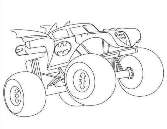 Monster Jam Coloring Pages Monster Truck Coloring Pages Batman Monster Truck Coloring Pages