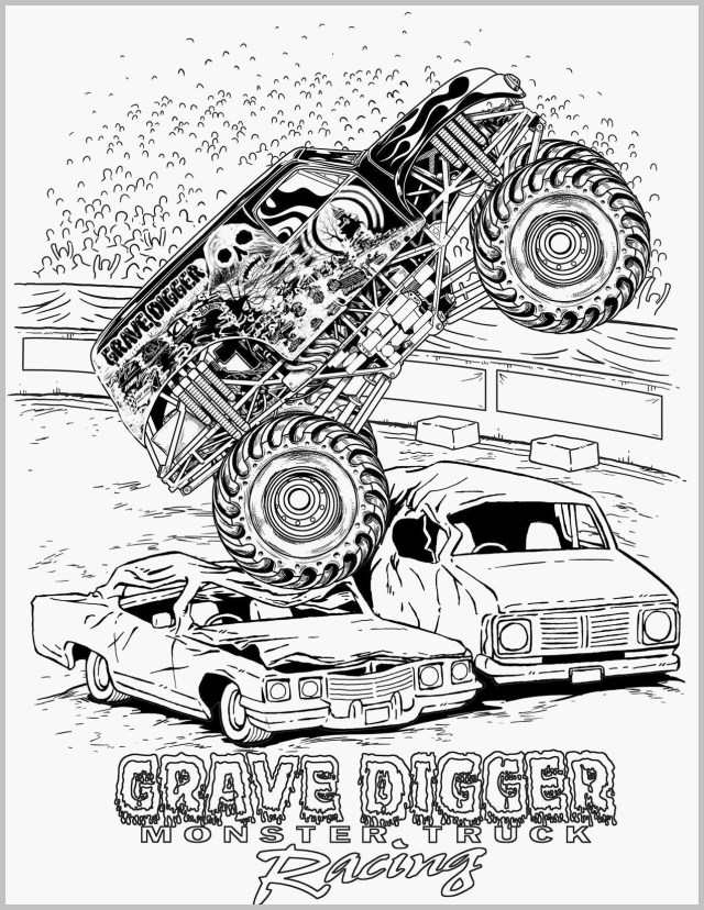 Monster Jam Coloring Pages Monstertrucks Cartoons Genial Monster Trucks Coloring Pages And