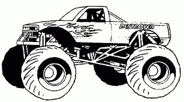 Monster Jam Coloring Pages Rc Car Coloring Pages Lofty Printable Monster Truck Best Coloring
