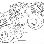 Monster Jam Coloring Pages Zombie Monster Truck Coloring Page Free Printable Coloring Pages
