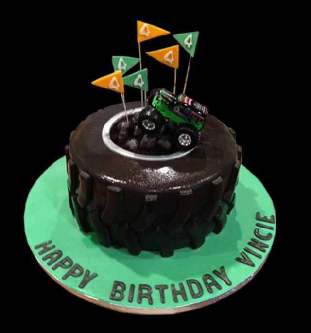 Monster Truck Birthday Cakes Grave Digger Monster Truck Birthday Cake Cakecentral