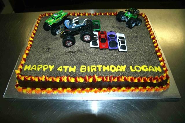Monster Truck Birthday Cakes Monster Truck Birthday Cake Titus 4th Bday Cake Truck Cakes