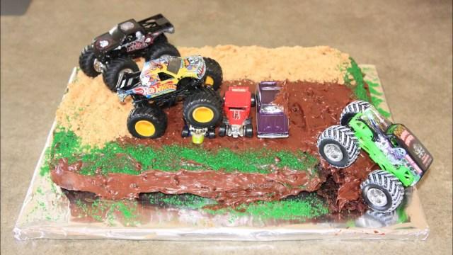 Monster Truck Birthday Cakes Monster Truck Birthday Cake Youtube